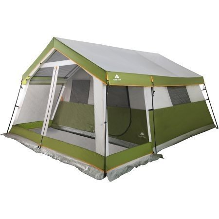 Ozark Trail 10-Person Family Cabin Tent with Screen Porch | Open-Air Living Space | Storage Pockets