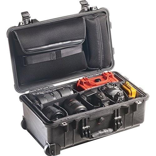 Pelican Products 1510-007-110 Medium Studio Case 1510LOC with Padded Dividers (黒)
