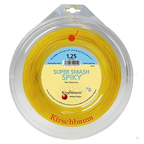 Kirschbaum Reel Spiky Tennis String, Optic 黄, 1.25mm/17-Gauge