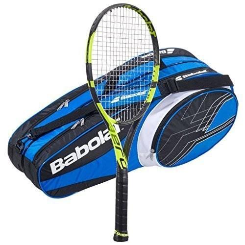 100%正規品 テニスラケットBabolat Pure (Bl Aero - Tennis with Racquet - 2016 AeroPro Drive - STRUNG with 6 Racquet Bag (Bl, ANSHINDO(時計小物洋服):d9c304df --- airmodconsu.dominiotemporario.com