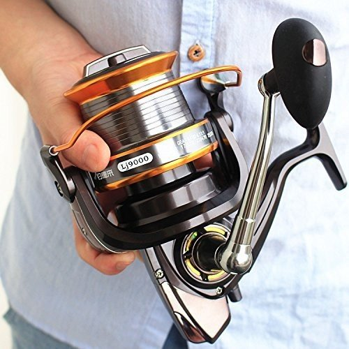 Zoostliss 13BB New 9000 All Metal Line Cup Big Long Shot Round Fishing Reel Fishing Boats Sea Ancho