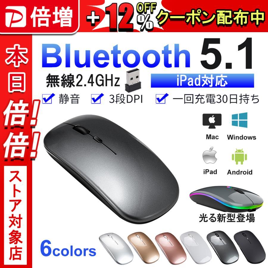 ワイヤレスマウス 無線マウス 充電 マウス 超薄型設計 マット加工 充電式マウス DPI搭載 小型 光学式 静音マウス 超薄 電池交換不要 Mac Windows 各種対応
