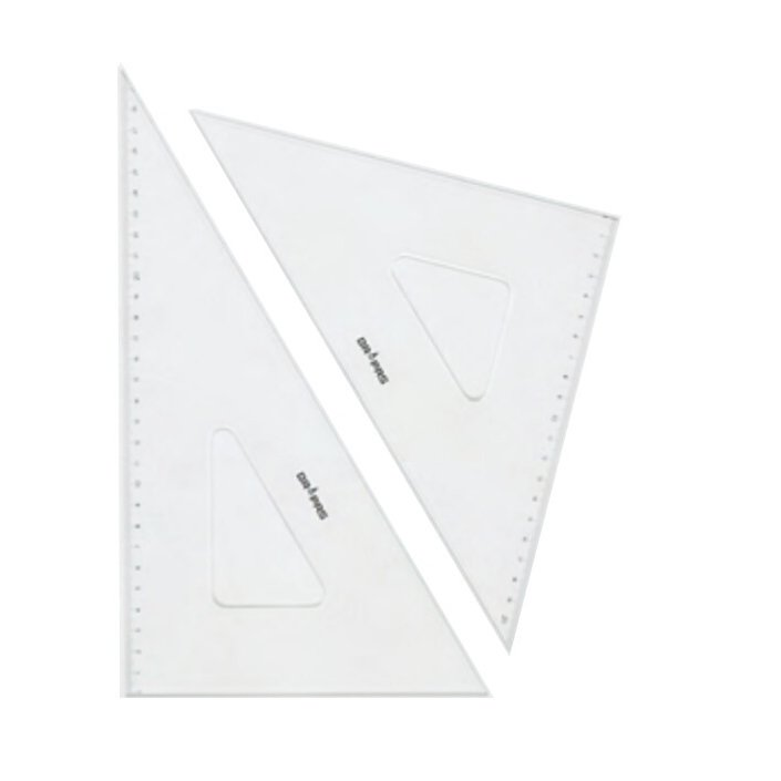DRAPAS ドラパス 三角定規 インクエッジ 目盛付 2.5mm厚 18cm No.13-422