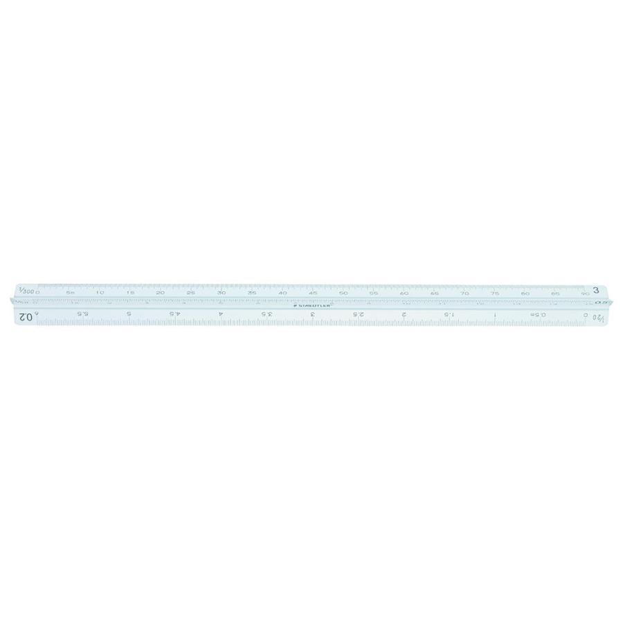 ステッドラー 高精度オールアルミ製三角スケール 30cm 建築士用 副尺付き 987 30-13|wow