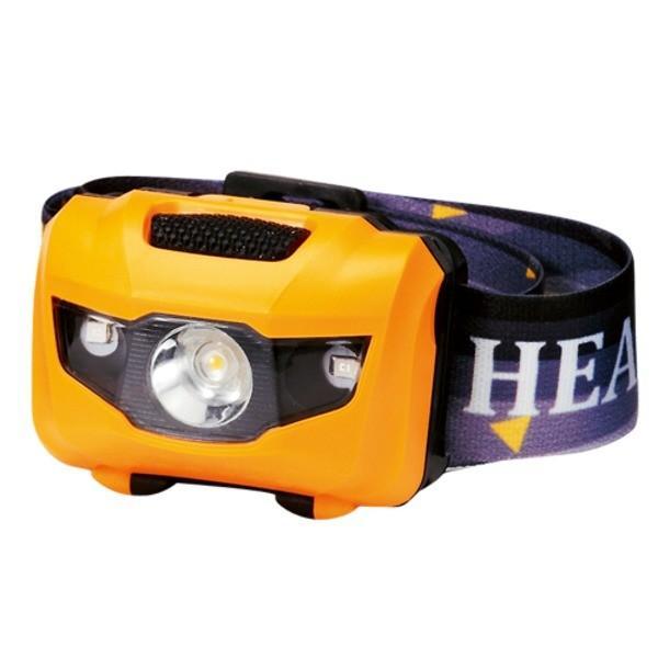 マルチ ヘッドライト/照明器具 〔イエロー 100個セット〕 ライト:4パターン切替可 〔防災 アウトドア 暗所作業〕