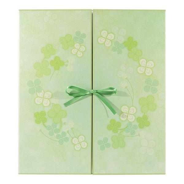 midori ミドリ 毎週更新 カラー色紙 両開き リボン クローバー <セール&特集> 33145006