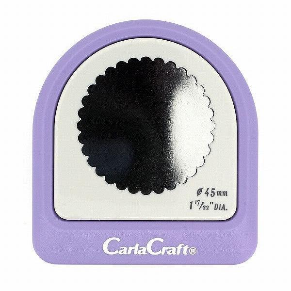 カーラクラフト 新品未使用 クラフトパンチ メガジャンボ φ45mm CN45 上質 スカロップ