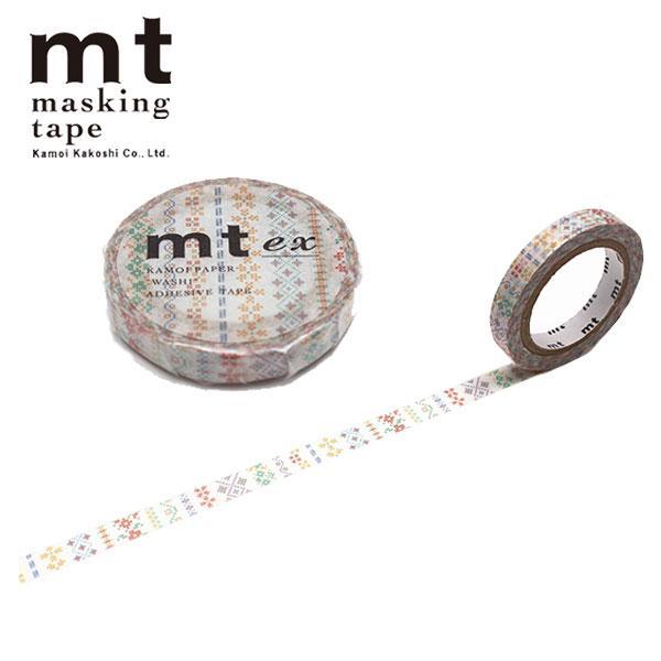いよいよ人気ブランド マスキングテープ mt カモ井加工紙 全国どこでも送料無料 ex 刺繍ライン MTEX1P184 7mm×7m