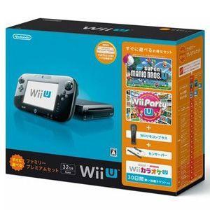 新品 WiiU本体同梱版 Wii U すぐに遊べるファミリープレミアムセット (クロ)