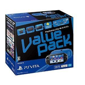 新品 PS VITA本体 PlayStation Vita Value Pack Wi-Fiモデル ブルー ブラック