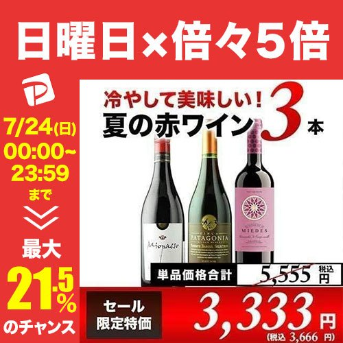 8 13セット内容変更 SALE 赤ワインセット 冷やして美味しい夏の赤ワイン4本セット 飲み比べ 店内全品対象 家飲み 直営店 set wine