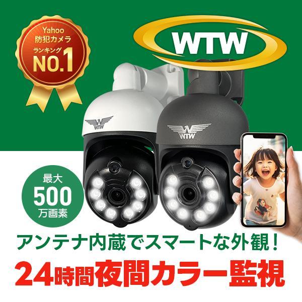 防犯カメラ みてるちゃん3Plus 屋外 屋内 夜間カラー 防犯灯カメラ アンテナ内蔵 ワイヤレス