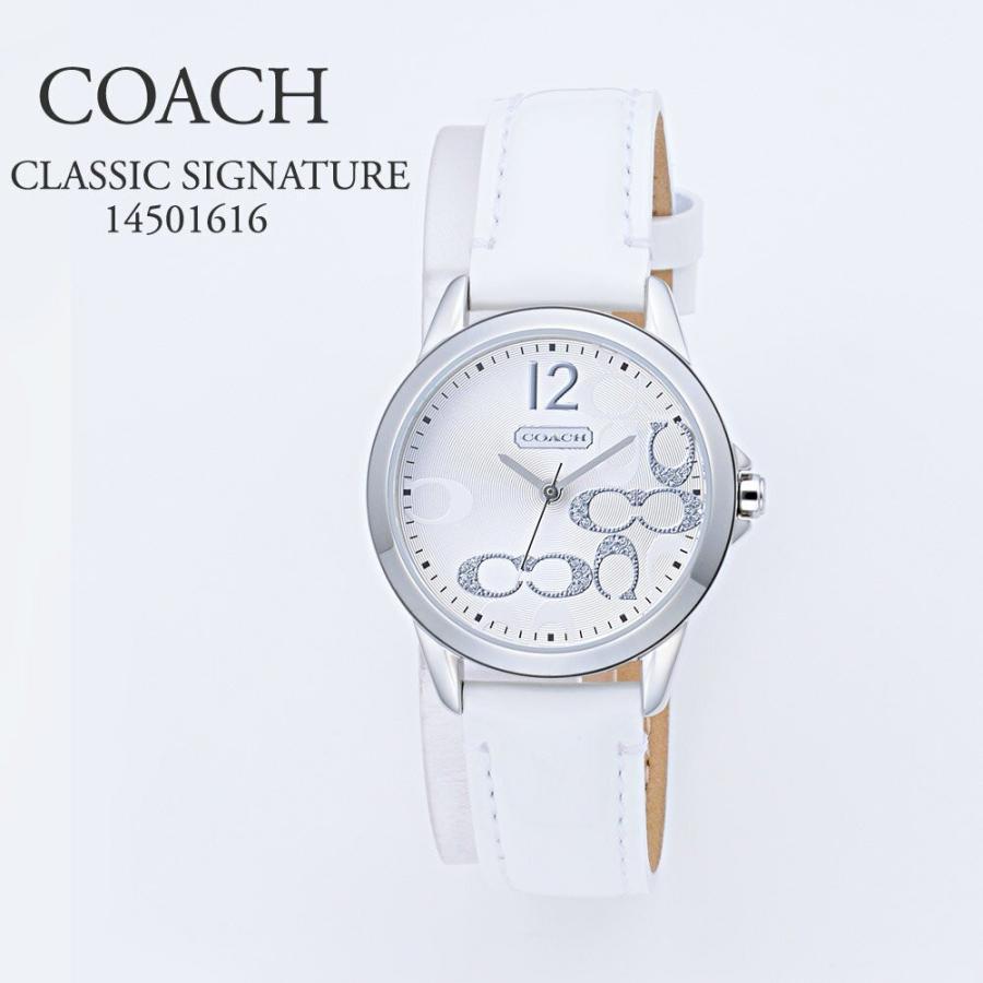 adf878995031 コーチ COACH 腕時計 レディースウォッチ 【CLASSIC SIGNATURE】 14501616 ホワイト