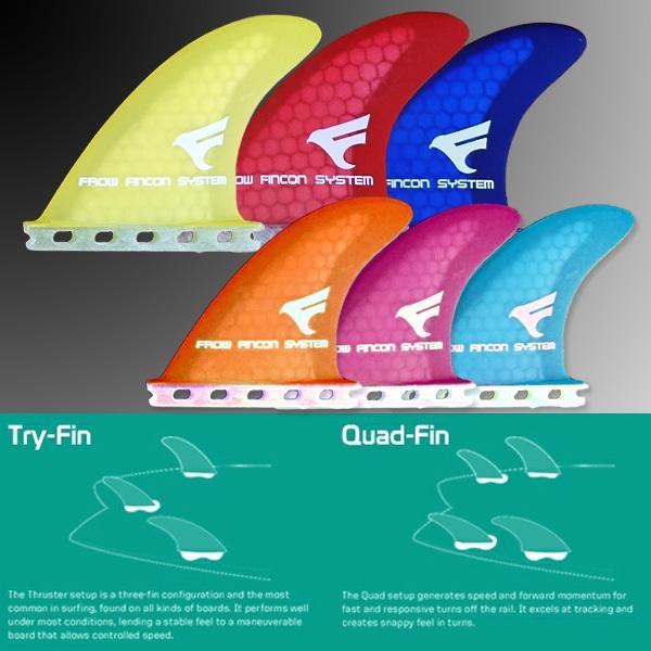 サーフボード フィン FUTURE/フューチャー対応 イエロー ハニカム クアッドフィン サーフィン FROW|x-sports|02