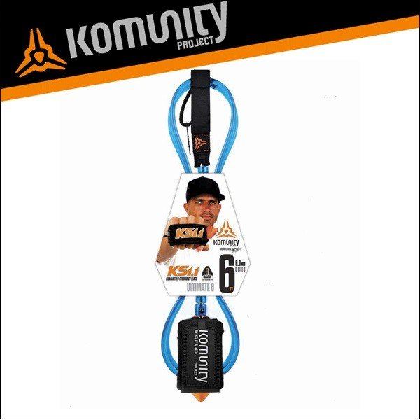 Komunity リーシュコード 6f 6フィート サーフィン ショートボード用 KS 1.1-ULTIMATE COMP 6'0