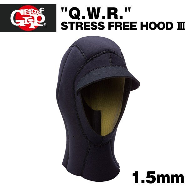 SURF GRIP ストレスフリー 1.5mm 帽子 サーフキャップ Q.W.R. サーフィン 防寒
