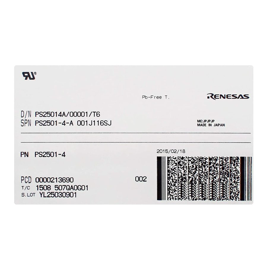 RENESAS(ルネサス) NEPOCシリーズ フォトカプラ PS2501-4-A (10個セット)|xcellentjo|03