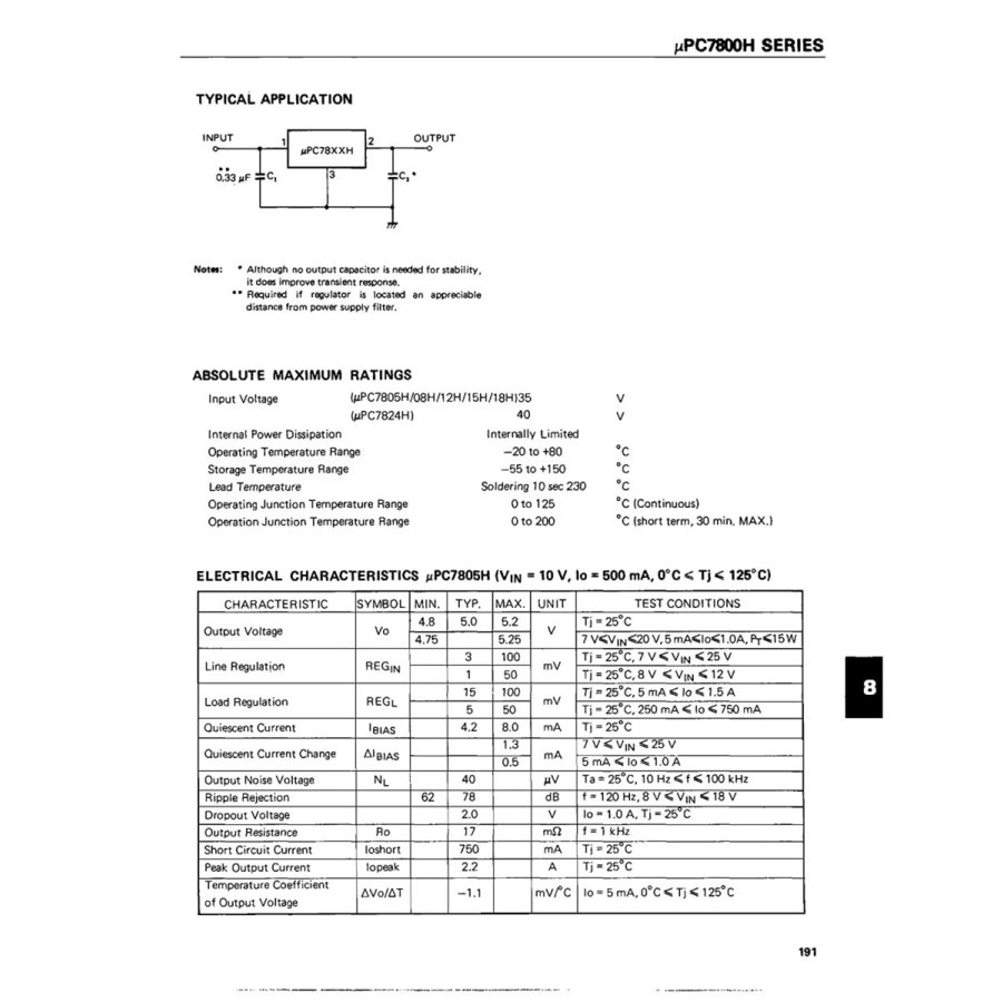 NEC 汎用品 三端子レギュレータ 5V 1A UPC7805H (5個セット) xcellentjo 05