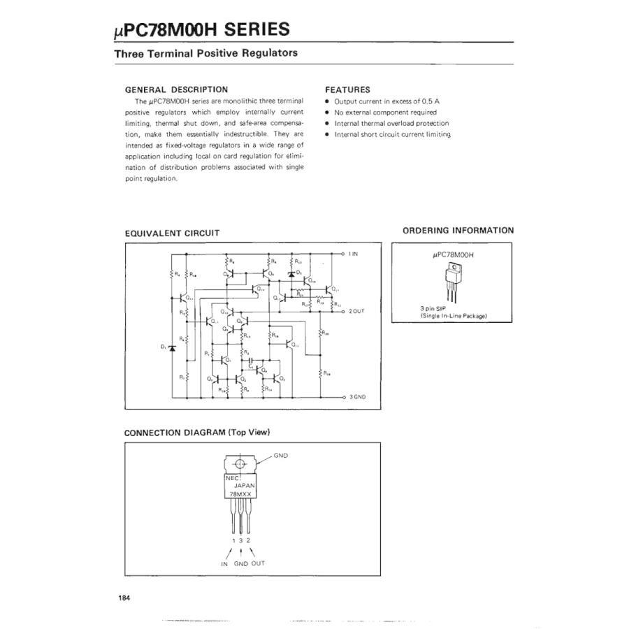 NEC 汎用品 三端子 レギュレータ 5V 500mA UPC78M05H (5個セット) xcellentjo 05