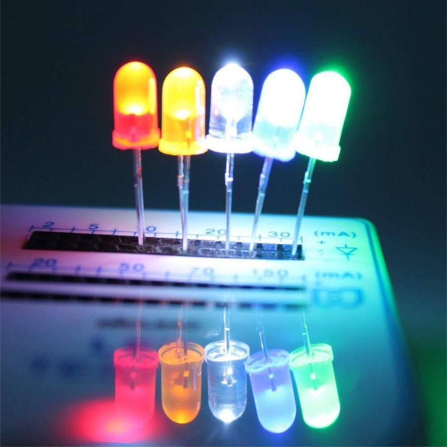Bestgle発光ダイオード5mm 500ピース透明LEDセットF5 LED電子部品バッグ LED電球 5色ダイオードセ xcellentjo 04
