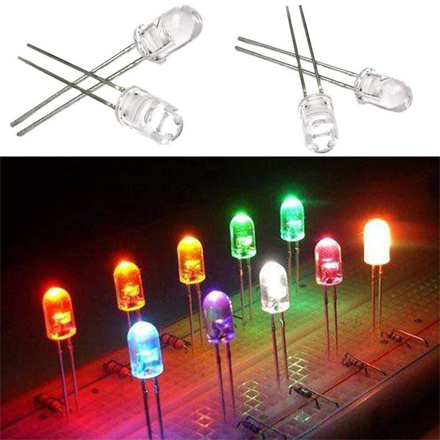 Bestgle発光ダイオード5mm 500ピース透明LEDセットF5 LED電子部品バッグ LED電球 5色ダイオードセ xcellentjo 07