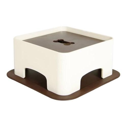 HARIO ハリオ わんテーブル PTS-WT-CBR つくえ 机 ペット用品 犬のボウル ペット 猫 犬 食事  W215×D215×H93mm(シリコーンマット含む) 送料無料|y-cos