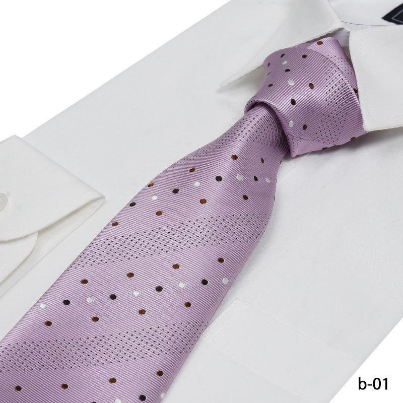 ネクタイ おしゃれ ブランド MICHIKO LONDON ミチコロンドン 物品 正規品 日本製 ドット 70%OFFアウトレット プレゼント ピンク 就職祝 就活