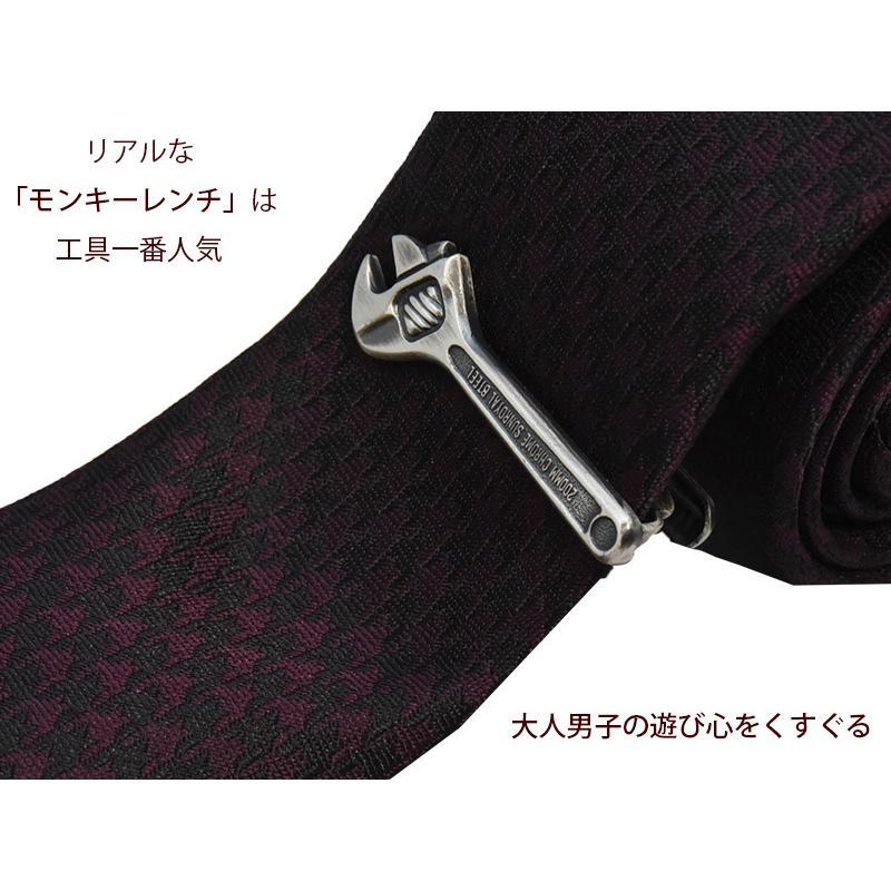 ネクタイピン おしゃれ 工具 ユニーク タイバー 日本製 モンキーレンチ スコップ プライヤー 定規 歯ブラシ 体温計 ハサミ コンパス ハンマー ナイフ|y-cravat-ueda|20