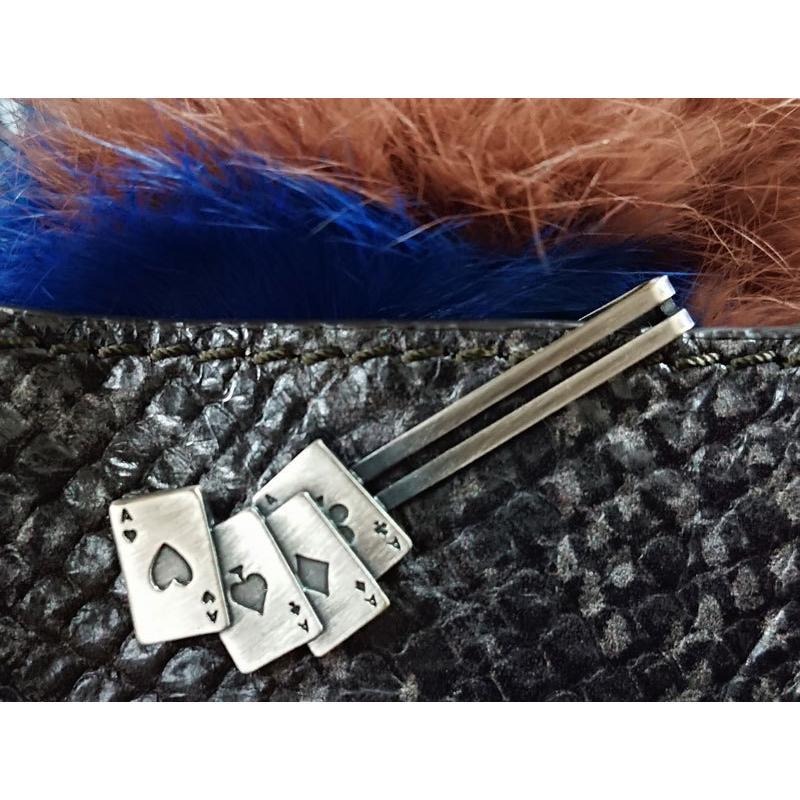 ネクタイピン おしゃれ 大人趣味 モチーフ タイバー プレゼント 日本製 チョイワル おもしろ ユニーク 銃 手錠 ダーツ カジノ トランプ|y-cravat-ueda|16