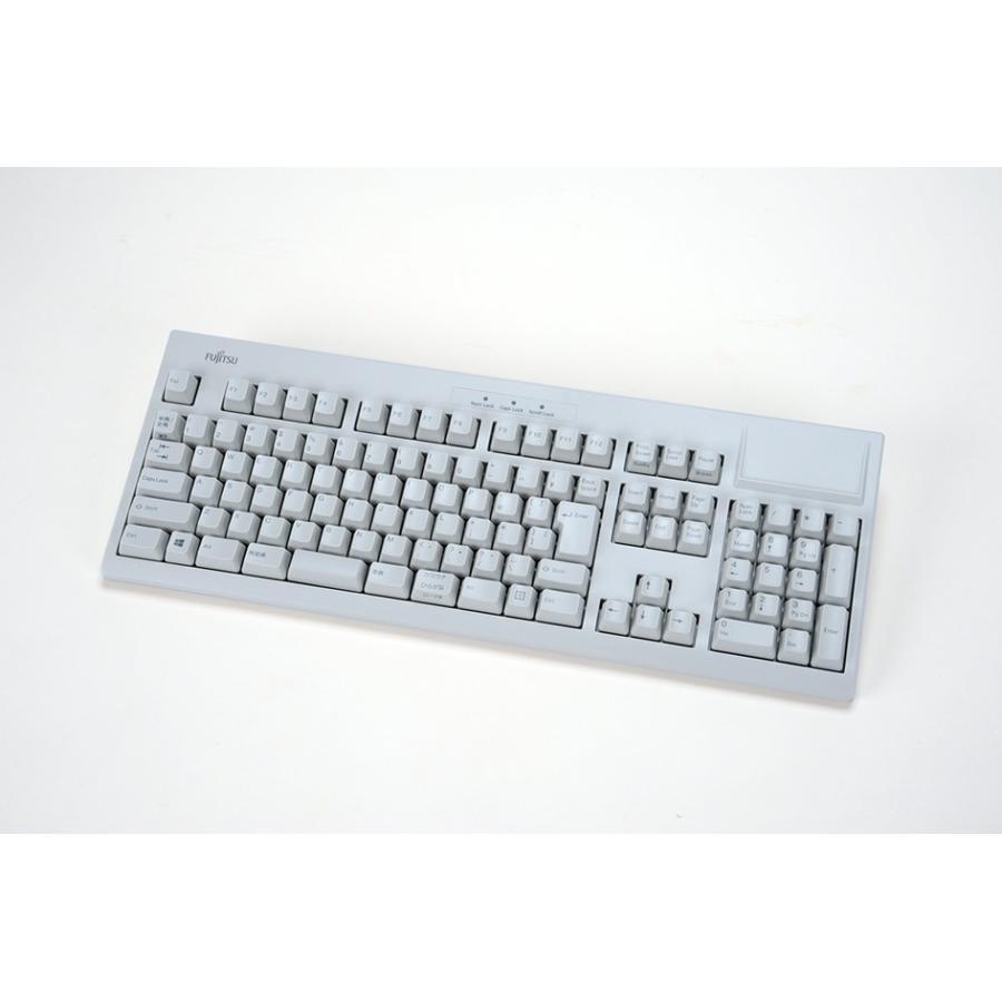FUJITSU 富士通 Libertouch キーボード USB・108キーかななし日本語配列・ライトグレー FKB8540-552/G
