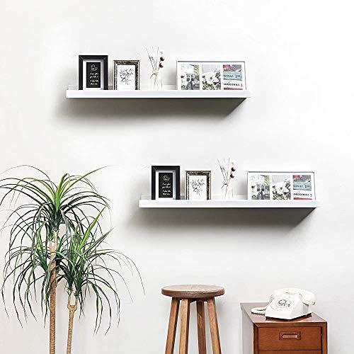 ウォールシェルフ 営業 天然木 壁掛け棚 U型滑り止め 飾り棚 60cm 収納用壁面棚 ホワイト 松木製 再再販