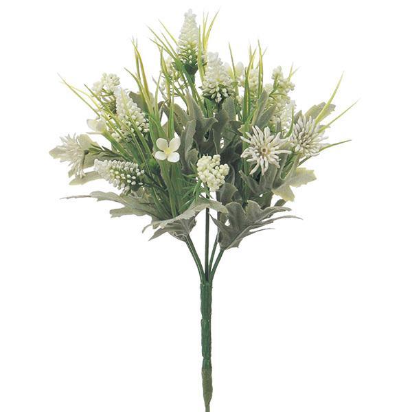 《 造花 》 とりよせ品 『1年保証』 Asca アスカ ホワイト ミックスフラワーブッシュ 激安挑戦中