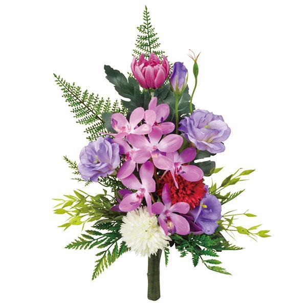 《 アウトレット☆送料無料 いよいよ人気ブランド 造花 仏花 》 Asca デンファレとトルコギキョウの御供えブーケ アスカ とりよせ品