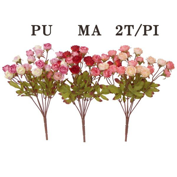 《 卓抜 造花 》 ☆オータムローズブッシュ Viva とりよせ品 物品