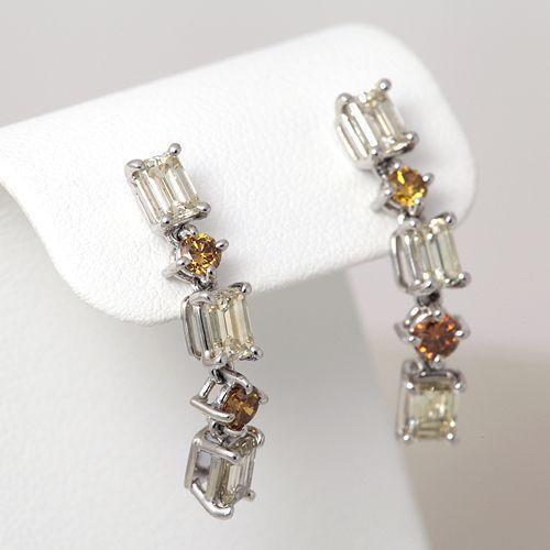 セール特価 ダイヤモンドピアス プラチナ ダイヤモンド 2.70ct, アツミグン 21d53278
