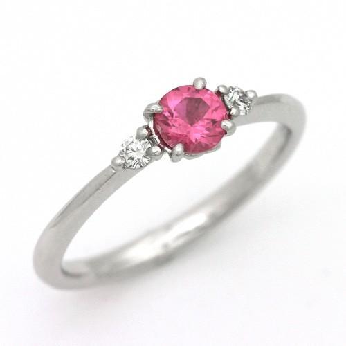 開店祝い プラチナ ピンクスピネル 0.35ct ダイヤモンド 0.059ct エンゲージリング, 正規品販売! 6907e0a7