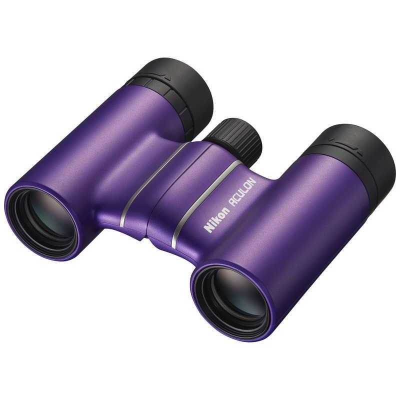 ニコン Nikon 8倍双眼鏡 アキュロン お見舞い ACULON 再再販 8×21 パープル T02