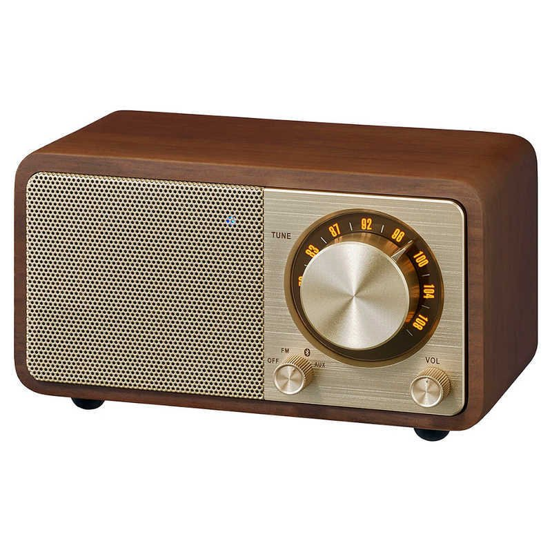 SANGEAN FMラジオ対応 期間限定お試し価格 新商品 ブルートゥーススピーカー ウォールナット WR-301 Bluetooth対応