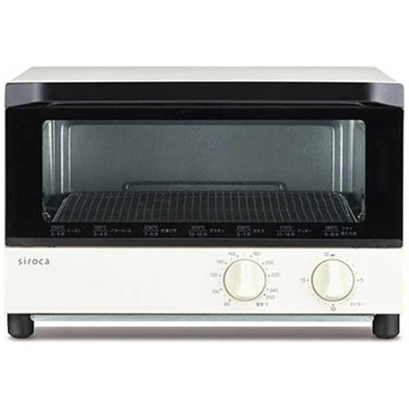 高額売筋 値下げ SIROCA オーブントースター 1200W ST-131-WH 食パン4枚 ホワイト