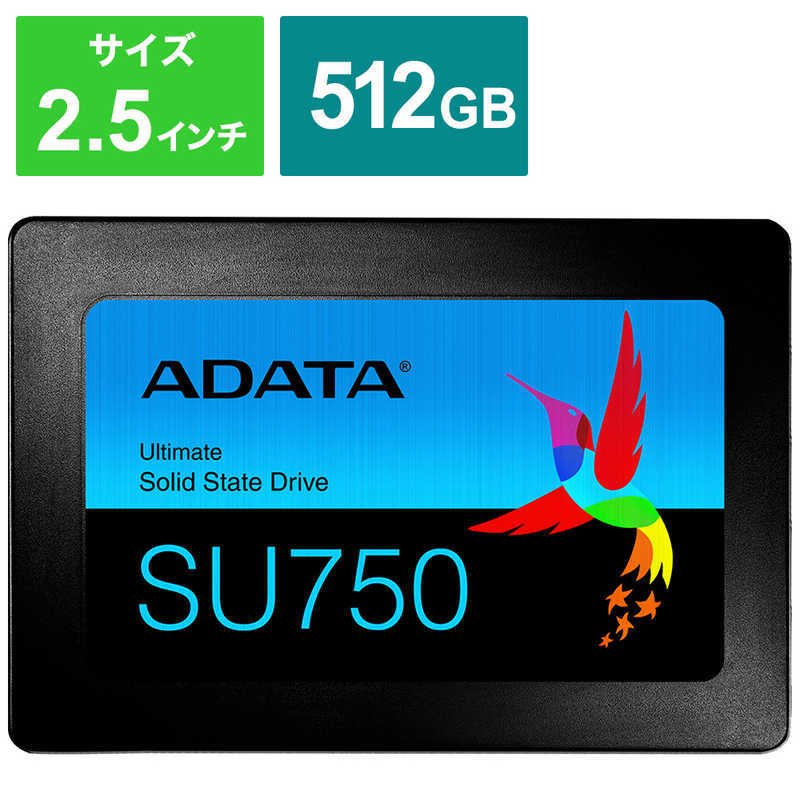 ADATA 営業 内蔵SSD SATA6Gb s バーゲンセール 3DTLC 2.5インチ 512GB 7mm ASU750SS-512GT-C