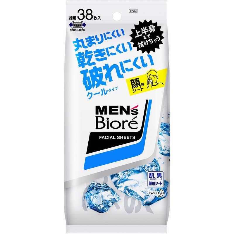 花王 MEN's Biore 激安特価品 メンズビオレ 新作アイテム毎日更新 洗顔シート 〔その他洗顔〕 クール 卓上用 38枚