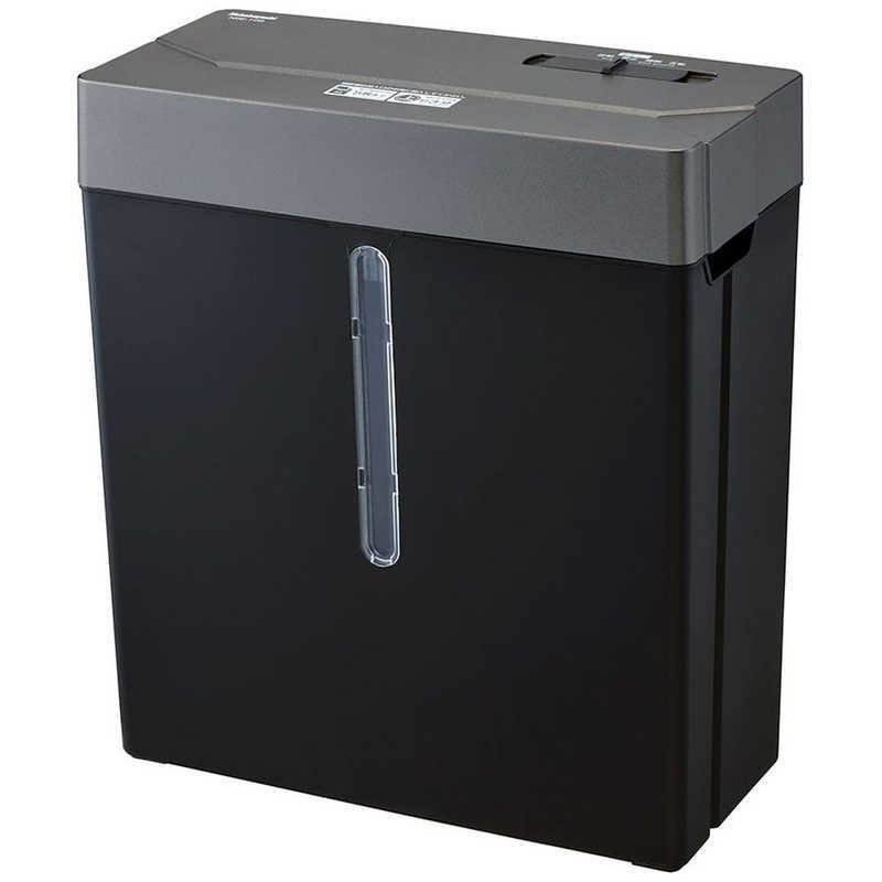 ナカバヤシ 電動シュレッダー ブラック NSE-109BK 人気上昇中 ファクトリーアウトレット A4サイズ クロスカット