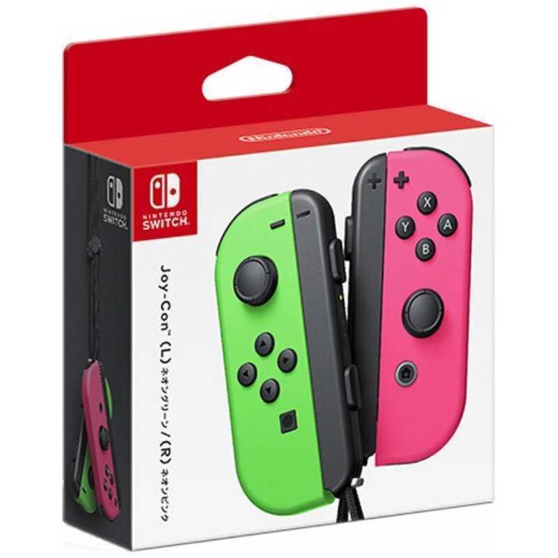 任天堂 新作製品、世界最高品質人気! Nintendo SWITCHアクセサリー 純正 Joy-Con ネオングリーン 日本最大級の品揃え ネオンピンク R L