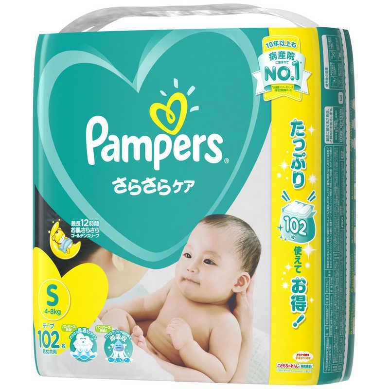 Pamp;G Pampers お気に入り パンパース さらさらケア テープ 人気 4kg−8kg パンパーステープウルトラエス Sサイズ 10 102枚〔おむつ〕