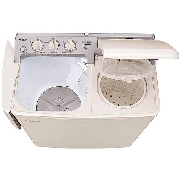 日立 HITACHI 二槽式洗濯機 青空 パインベージュ PS−H45L−CP 乾燥機能無 標準設置無料 ショッピング 上開き PS-H45L-CP 低価格 洗濯4.5kg