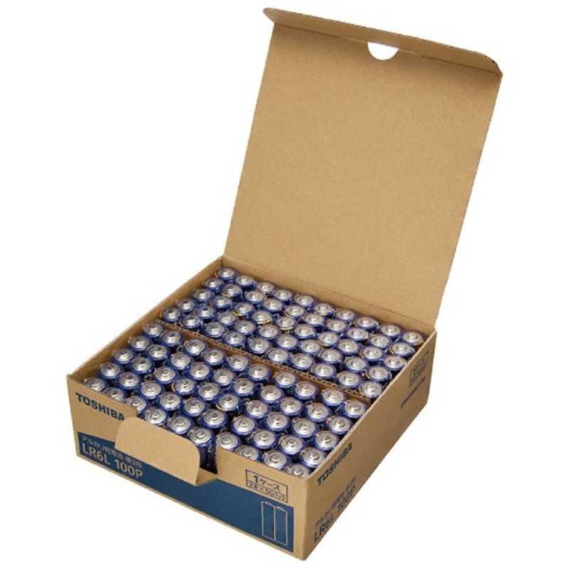 東芝 国内正規品 TOSHIBA 単3形乾電池 100本 永遠の定番 LR6L アルカリ乾電池 100P