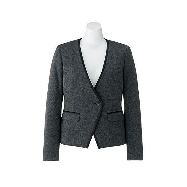 ボンマックス BONOFFICE ジャケット グレイ 13号 AJ0255-2 1着 (直送品)