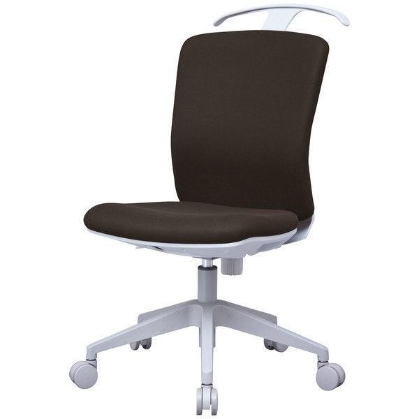 アイリスチトセ ハンガー付オフィスチェア オフィスチェア オフィスチェア 肘無し ブラウン CKR-G46M0-Br 1脚 (直送品)