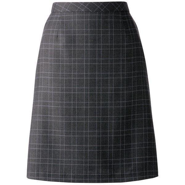 ボンマックス Aラインスカート グレイXブルー 5号 AS2277-32-5 1着(直送品)