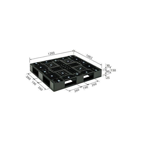 サンコー パレット D4-1012-2 (PP) 81206000BKRCP (直送品)